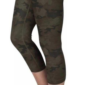 Lululemon Wunder Under Crop-Savasana Camo, Size 2